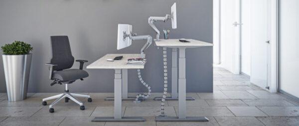 Broecan Sitz-Steh Ergo R2 Schreibtisch elektrisch höhenverstellbar 65-130cm