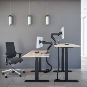 Broecan Sitz-Steh Schreibtisch Kurbel HV 68-113cm ab 279,00
