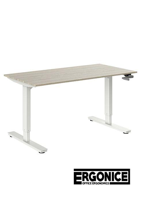 Broecan Sitz-Steh Schreibtisch Kurbel HV 68-113cm