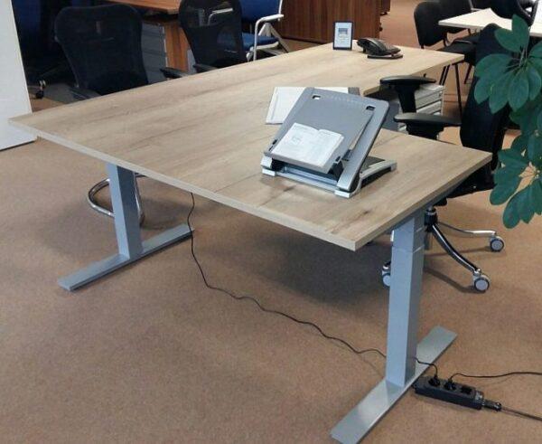 Broecan Sitz-Steh Eckschreibtisch Ergo Pro L Elektrisch HV 65-130cm