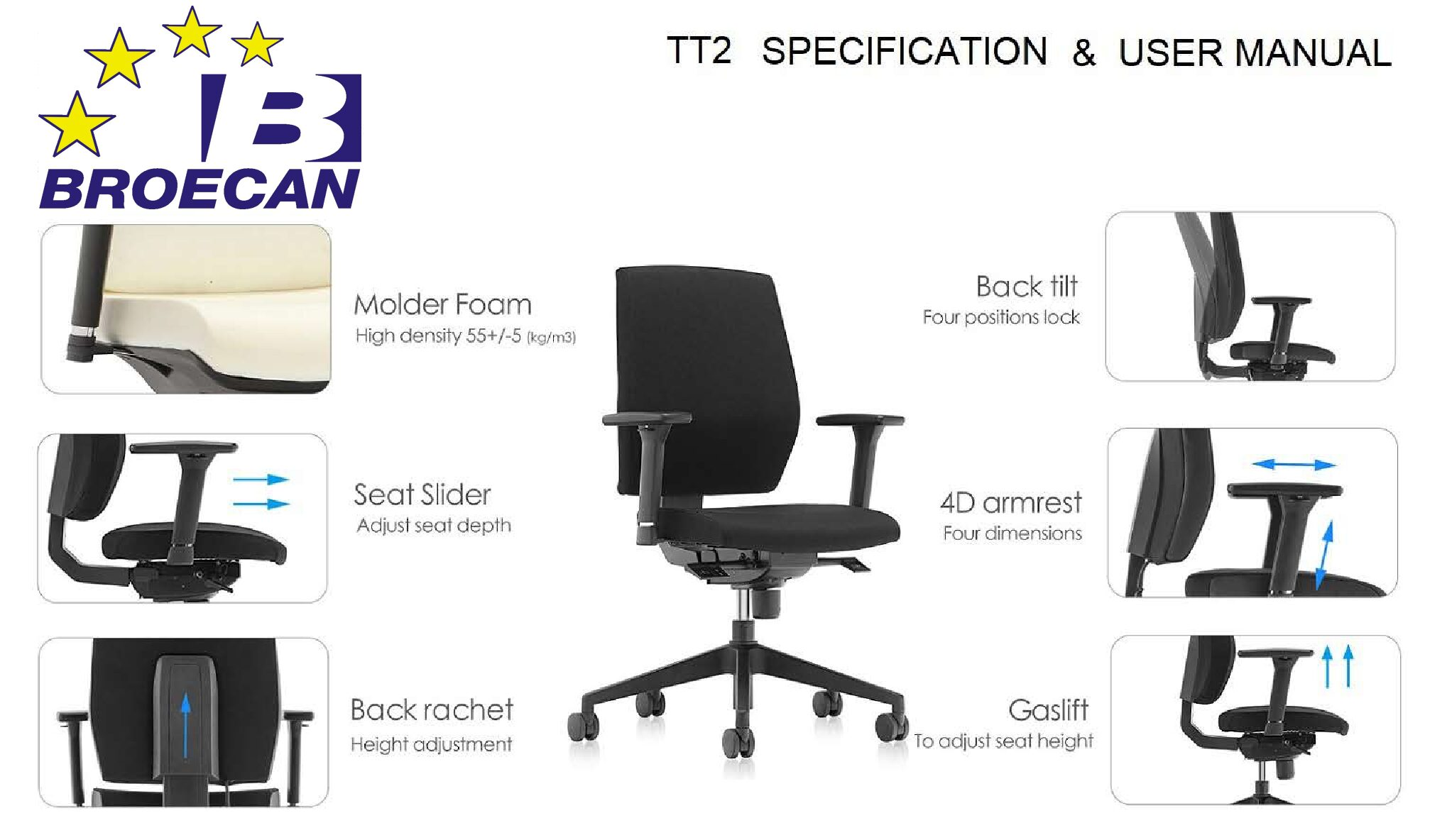 OKA Schreibtisch 180×80 inkl. neuer Bürodrehstuhl Eur 399,00 inkl.Mwst