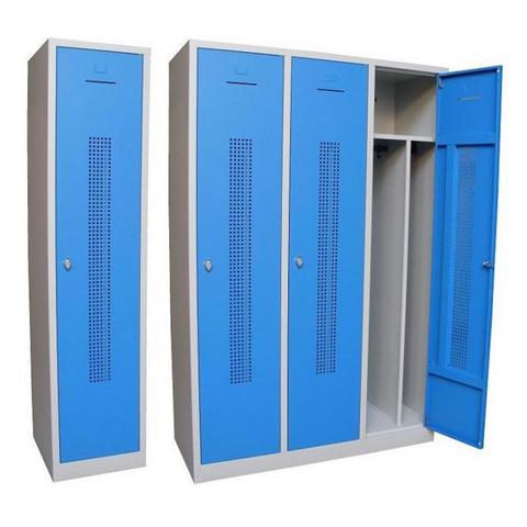 Broecan Garderobenschrank WRD 3-Türig blau